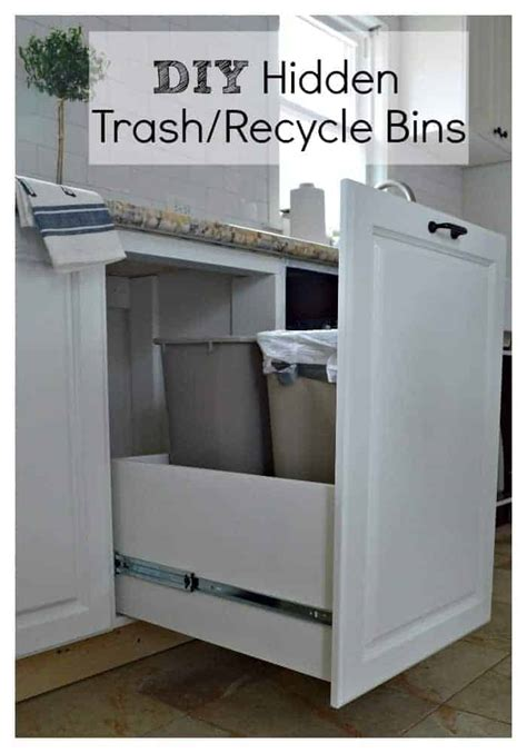 Diy Trash Can Cabinet With Drawer